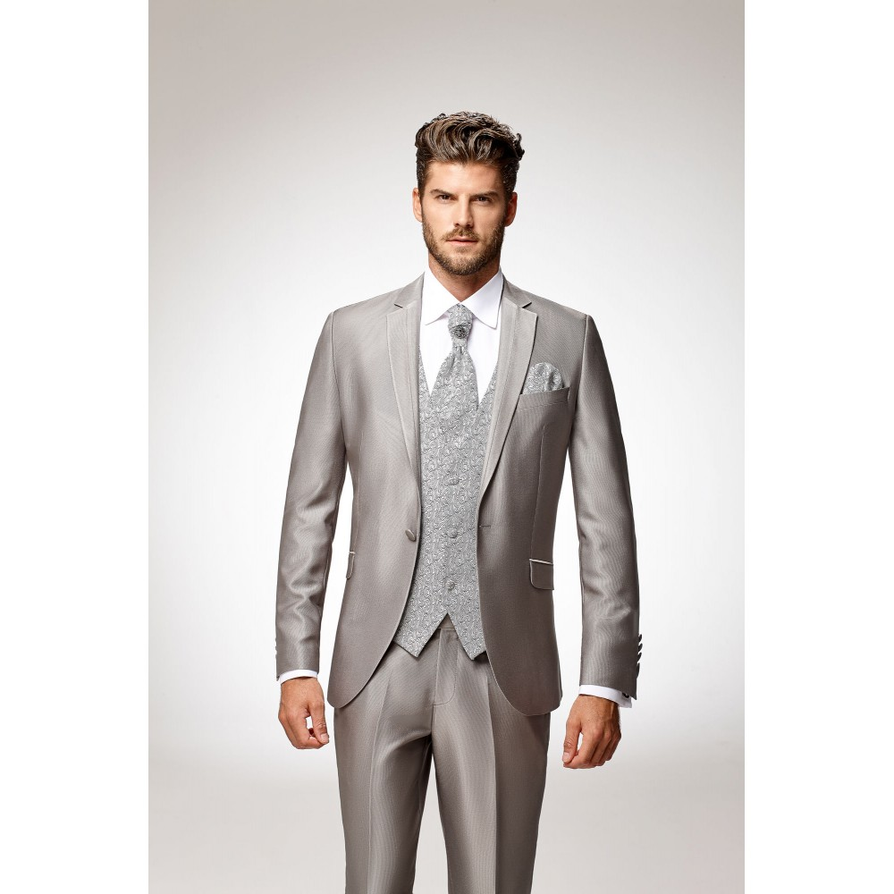 Costume de marié gris 5 pièces da78ac8b458