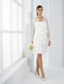 Robe de mariée courte droite