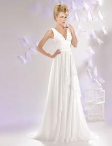 Robe de mariée col V Toulon Hyères Var