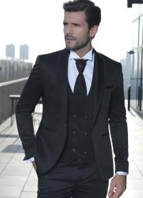 Costume de marié noir 5 pièces slim, Toulon Var