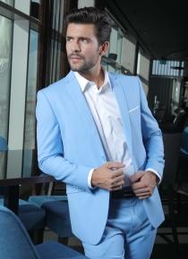 Costume de marié 2 pièces bleu ciel slim, Toulon Var