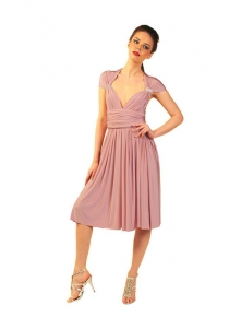 robe-multipositions-courte-rose