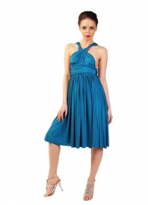 robe-multipositions-courte-turquoise