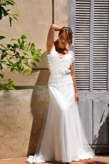 Robe de Mariée Bohème Coco des Mariées de Provence