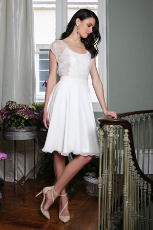 Robe de Mariée Courte Denise Elsa Gary
