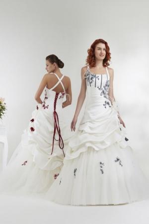 robe-de-mariee-bordeaux-rouge-ANNIE-COUTURE-toulon-var