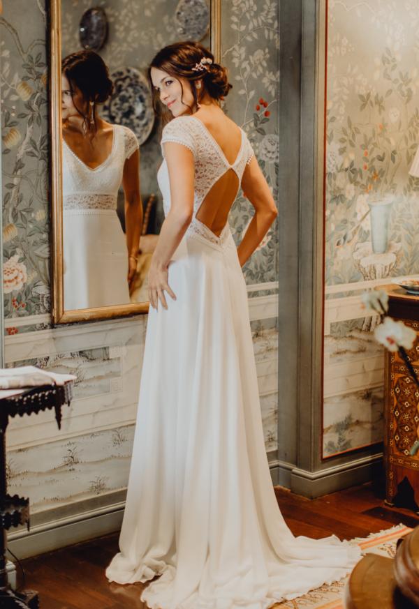 Robe de Mariée Bohème Camélia Elsa Gary