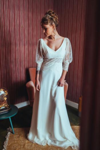Robe de Mariée Vintage Cloé Elsa Gary