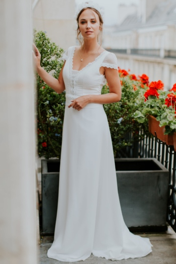 Robe de Mariée Bohème Florence Elsa Gary