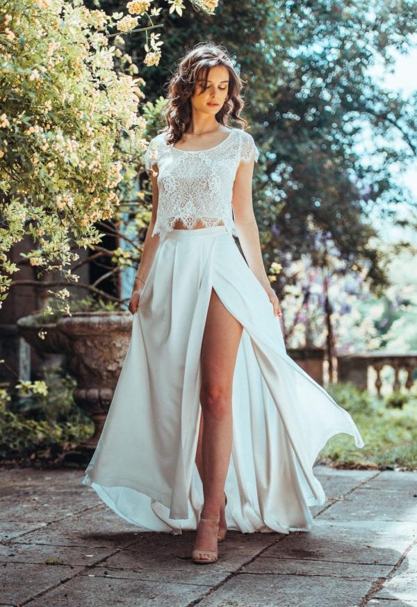 jupe fendue de mariée clair de lune elsa gary
