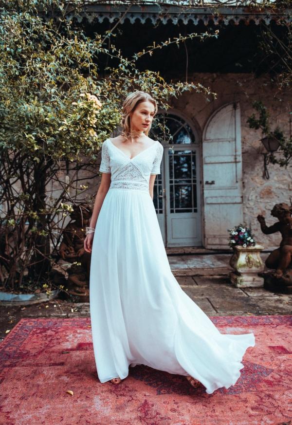 robe de mariée etincelle elsa gary